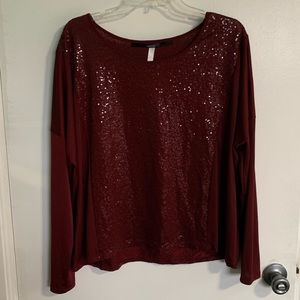 Sequin Long Sleeve Blouse